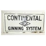 71X35 PORC. CONTINENTAL GINNING SIGN