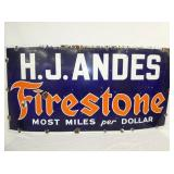 60X34 PORC. H.J ANDES FIRESTONE SIGN