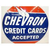 VIEW 4 33IN PORC. CHEVRON CARDS SIGN