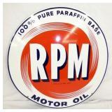 22IN PORC. RPM MOTOR OIL SIGN
