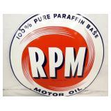 VIEW 2 CLOSEUP PORC. RPM OIL SIGN