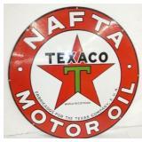 36IN PORC. NAFTA TEXACO OIL SIGN