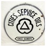 48IN PORC. CITIES SERVICE OIL SIGN