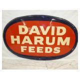 27X30 DAVID HARUM FEEDS SIGN