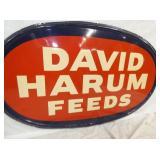 VIEW 2 CLOSEUP DAVID HARUM FEEDS SIGN
