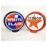 VIEW 3 WHITE FLASH, TEXACO GLOBES