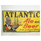 56X31 1939 ATLANTIC EMB. ALE BEER SIGN