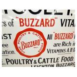 VIEW 3 CLOSEUP UNUSUAL BUZZARD FEED SIGN