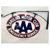 38x24 PORC. AAA CAROLINA MOTOR CLUB SIGN