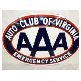 36X24 PORC. AAA AUTO CLUB OF VIRGINIA SIGN
