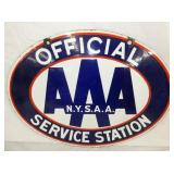 22X15 PORC. OFFICIAL AAA STATION SIGN