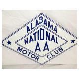 23X16 PORC. ALABAMA NATIONAL AAA MOTOR CLUB SIGN