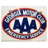 30X23 PORC. GEORGIA MOTOR CLUB AAA SIGN