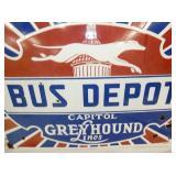 VIEW 2 CLOSE UP PORC. GREYHOUND BUS DEPOT