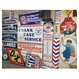 COLLECTION EARLY PORC. GAS/OIL SIGNS