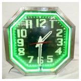 25X25 ORIG. NEON EMB. CLOCK