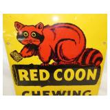 VIEW 2 CLOSEUP RED COON SIGN