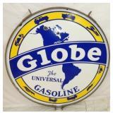42IN PORC. GLOBE GASOLINE SIGN