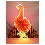 ORIG. PORC. 37X36 RED GOOSE SHOES NEON