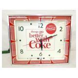 16X18 1/2 THINGS GO BETTER W/ COKE NEON CLOCK
