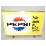 16X24 LIGHTED TAKE HOME PEPSI CARTON COUNTER SIGN