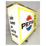VIEW 2 CLOSEUP SIDE VIEW LIGHTED PEPSI W/ LETTERING SIDES