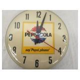 VIEW 2 CLOSEUP PEPSI COLA SAY PLEASE 12IN CLOCK