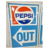 VIEW 2 23X35 EMB. PEPSI OLD STOCK OUT SIGN