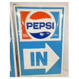 VIEW 3 EMB. PEPSI OLD STOCK IN SIGN