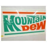 VIEW 2 CLOSEUP EMB. MOUNTAIN DEW EMB. 1973 SIGN