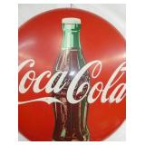 VIEW 2 CLOSEUP PROMOTIONAL TIN 1951 COKE BUTTON