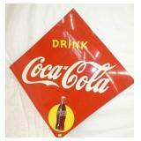 42X42 DRINK COCA COLA DIAMOND SIGN