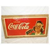 70X34 FRAMED DRINK COCA COLA W/ LADY
