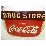 VIEW 2 CLOSEUP PROC. COKE DRUG STORE SIGN