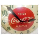 VIEW 2 CLOSEUP DRINK COKE 15IN CLOCK