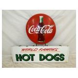 PORC. COKE HOT DOGS W/24IN BUTTON