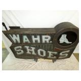 VIEW 5 WAHR SHOES WOODEN TRADE SIGN