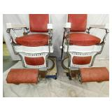 VIEW 3 BOTTOM VIEW PORC. BARBER CHAIRS