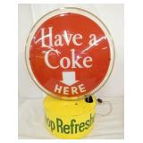 VIEW 4 16X21 COKE SPINNER SIGN