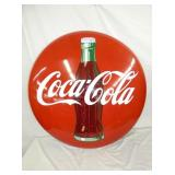 37IN TIN 1951 PROMOTIONAL COKE BUTTON