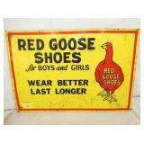 14X10 EMB. RED GOOSE SHOES SIGN