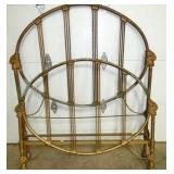 EARLY 57X46 CAST WEDDIN RING BED
