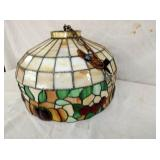 20IN STAINED GLASS HANGING LIGHT