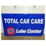 58X34 EMB. TOTAL CAR CARE 76 SIGN