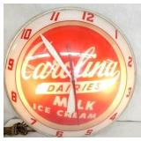 15IN DOUBLE BUBBLE DAIRIES CLOCK