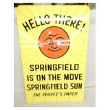 36X24 1964 HELLO SPRINGFIELD SIGN