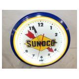 VIEW 2 CLOSEUP SUNOCO NEON CLOCK