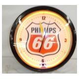 20IN PHILLIPS 66 NEON CLOCK