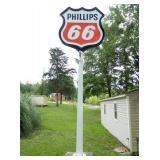 6FT. PORC. PHILLIPS 66 POLE SIGN