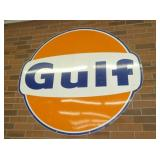 6FT. PORC. GULF DOG EAR SIGN